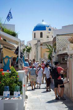 Shopping in Oia, Santorini