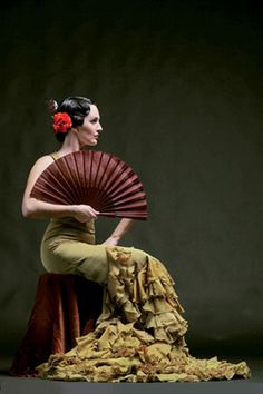 Classy flamenco make up & hair.