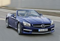 Just this 2013 Blue SL 65 AMG Mercedes-Benz (don't need the man in it:)
