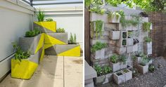 Chic é reutilizar: blocos de concreto no jardim | Jardim do Coração
