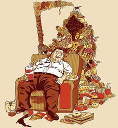 Frituras, carboidratos, fast food: uma morte lenta!