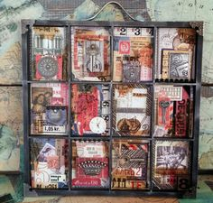 Starrgazer creates: Shadow Box with Idea-ology trinkets and ephemera.