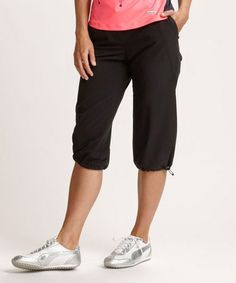 Another great find on #zulily! Black DryTec Milla Capri Pants by Annika by Cutter & Buck #zulilyfinds