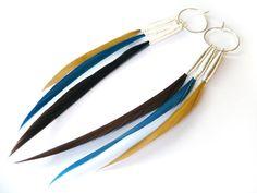 Multiple feather earrings