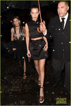 Bella Hadid & Taylor Hill Stop By Miu Miu Party in Paris!