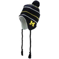 Top of the World Michigan Wolverines Big Rib Toboggan Knit Hat - Navy Blue a150a7f2296d