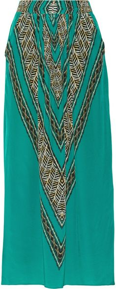 Vix Swimwear Xingu Liza silk crepe de chine maxi skirt on shopstyle.co.uk