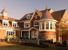 Shingle Style House - traditional - exterior - detroit - by VanBrouck & Associates, Inc.