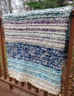 Handknitted Blanket Afghan Warm Knit Throw Handknitted