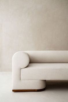 : The Dahlem sofa explores architectural mass in a refined statement of modernism. The oversized arms and uninterrupted silhouette create unity in a st. Sofa Furniture, Sofa Chair, Modern Furniture, Furniture Design, Modern Couch, Furniture Outlet, Rustic Furniture, Luxury Furniture, Furniture Ideas