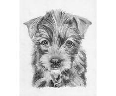 Custom Dog Portrait - Hand Drawn Art From Photo - Digital File JPG - pinned by pin4etsy.com