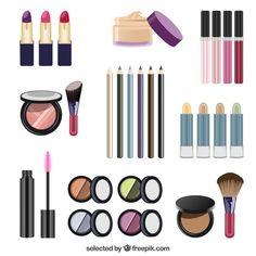 Mulheres elementos cosméticos Vetor grátis