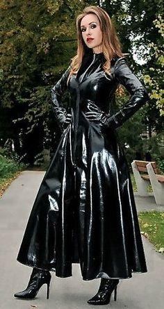 Raincoats For Women Shape Key: 7275029088 Vinyl Raincoat, Pvc Raincoat, Fetish Fashion, Latex Fashion, Fashion Goth, Sexy Outfits, Fashion Outfits, Rubber Dress, Vinyl Clothing