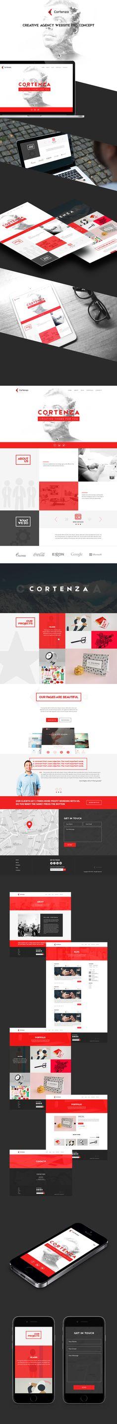 Cortenza - Creative Agency Website PSD Concept on Behance