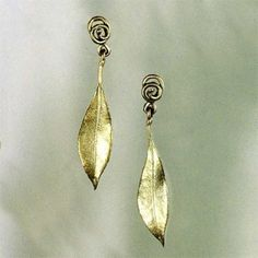 Curly Pod Large Double Dangle Earrings by Michael Michaud for Silver Seasons/…