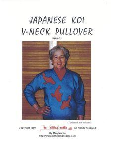 Japanese Koi V-Neck Pullover - The Knitting Needle KNJK-22