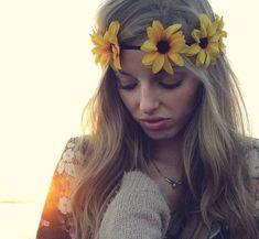 Flower Crown Daisy Headband, Coachella, Music festival, Rave accessory - Yellow daisies on Etsy, $10.00