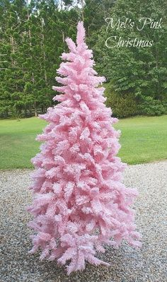 Olivias Romantic Home Spray Paint A White Christmas Tree Pink