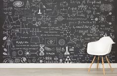 Scientific Chalkboard Wall Mural, custom made to suit your wall size by the UK's for wall murals. Custom design service and express delivery available. wallpaper Scientific Chalkboard Effect Wall Mural Laptop Wallpaper, Wall Wallpaper, Photo Wallpaper, Chalkboard Wallpaper, Chalkboard Wall Bedroom, Chalkboard Vector, Science Bedroom, Chalk Wall, Blackboard Chalk