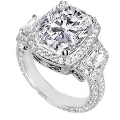 GIA Certified Cushion Diamond Engagement by thediamondspecialist