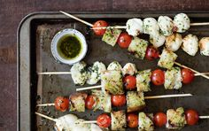 Grilling+a+traditional+caprese+salad+—+summer's+perfect+mix+of+fresh+mozzarella,+tomatoes+and+basil+—+takes+all+of+its+flavors+up+a+notch.