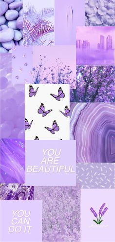 Lavender Themed Collage Wallpaper