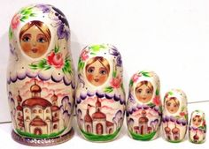 Matreshka Russian Churches traditional russian by Viktoriyasshop, $52.00