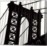 Manhattan Bridge Silhouette (detail) Fine-Art Print