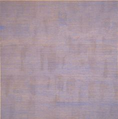 "Agnes Martin: Falling Blue, 1963 - oil and graphite on canvas (Collection SFMOMA, Gift of Mr. © Estate of Agnes Martin) Courtesy of """" Art Nouveau, Monochrome Painting, Hard Edge Painting, Agnes Martin, Frank Stella, Digital Museum, Abstract Painters, Famous Artists, Female Art"