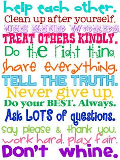 Like the golden rules to life.  Ponder these points & live them.  Amen, amen & amen!