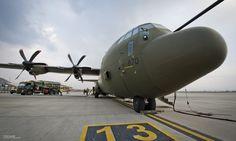 RAF Hercules C-130J in Kabul