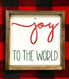 Joy to the World Framed Sign Christmas Wood Sign Christmas | Etsy #Christmas #Etsy #sign #holiday