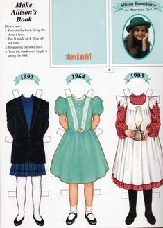 Allison:  American Girls Magazine paper doll, Pleasant Company (cannot find the doll)