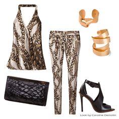 Simplesmente belo! #fashion #moda #personalstylist #personalstylistbh #consultoriademoda #consultoriadeimagem #looks #lookdodia #lookoftheday #estilo #style #print #estampa #tigresse #arezzo #schutz #hervevanderstraten.  Veja mais em www.carolinedemolin.com.br