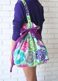 Rae's Ribbon Tote Bag PDF Sewing Pattern - Zakka! - by Amy Morinaka