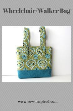 Loved ones can keep their personal items close to them and within arms reach with this medium sized tote.  Top of the bag has a magnetic snap closure instead of a zipper for those who may struggle with dexterity issues.