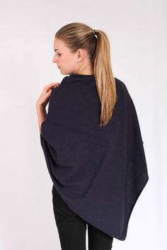 Black Navy 100% Cashmere Poncho on sale online in South Africa – Pebble&Jack