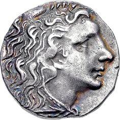 Ancient Silver Coin - Pontos Persian Iranian King God Mithra