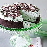No time to bake? This festive and refreshing dessert features chocolate mint ice cream in a cookie crust. It's remarkably easy and great for entertaining.