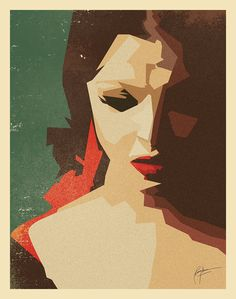 Aishwarya Rai Bachchan Digital Illustration by Parveen Verma, via Behance