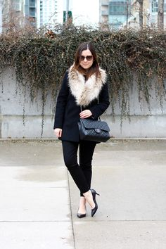 All Black with Faux Fur