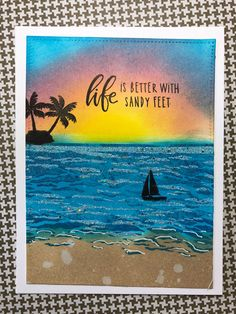 Hero Arts My Monthly Hero June 2018 Card Kit Card Kit, Card Tags, Hero Arts Cards, Nautical Cards, Beach Cards, Sea Theme, Fathers Day Cards, Travel Themes, Pretty Cards