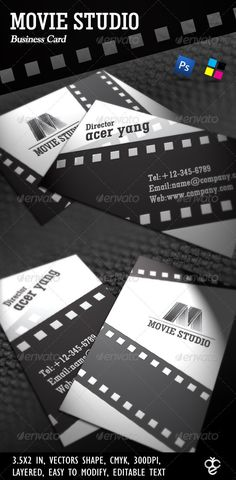 Business card we designed for a local videographer and production file information dimensions inch 352 colorscmykresolution 300dpibleed lines included vectors shape psd file font u colourmoves