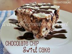 The Country Cook: Chocolate Chip Swirl Cake
