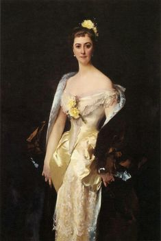 John Singer Sargent 1884 Caroline de Bassano, Marquise d'Espeuiles oil on canvas de Young Museum, San Francisco CA