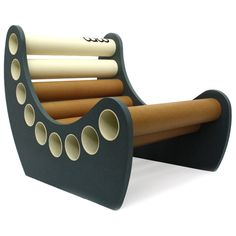 Jabbah - babu™ chair for kids (from 3 years) • Material: MDF + cardboard tube • Handmade design from non conventional materials; each model is unique because of the detail in the finishing of each piece.