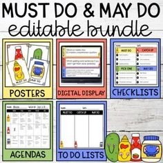 Must Do May Do Editable BUNDLE by Sublime Little Scholars | TpT Education Clipart, May, Day Planners
