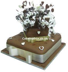 Chocolate Wedding Parcel Wedding Cake
