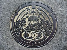 Iga town, Mie pref manhole cover. Ninja!