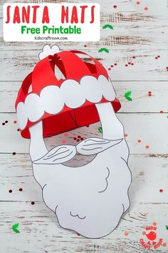 Get Festivewith This Fun Christmas Craft Make And Wear A Cute Paper Santa Hat This Christmas Hat Idea Is Great For Fun Loving Kids And Grown-Ups Free Printable Santa Hat Craft Template Christmas Art Projects, Christmas Crafts For Kids To Make, Preschool Christmas, Christmas Hat, Christmas Activities, Crafts To Make, Fish Crafts, Xmas, Toddler Crafts